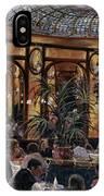 Brasserie Bofinger In The Rue De La Bastille, Paris, 1999 Oil On Canvas IPhone Case