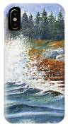 Breakers At Pemaquid IPhone Case