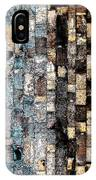 Bricks Of Turquoise And Gold IPhone Case