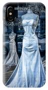 Bridal Dress Window Display In Ottawa Ontario IPhone Case