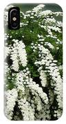 Bridal Wreath Spirea - White Flowers - Florist IPhone Case