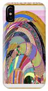 Bride In Layers Of Veils Accidental Discovery From Graphic Abstracts Made From Crystal Healing Stone IPhone X Case