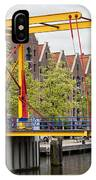 Bridge And Houses On Entrepotdok In Amsterdam IPhone Case