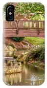 Bridge At Shelton Vineyards IPhone Case