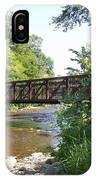 Bridge At Waubonsie Creek IPhone Case