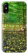 Bridge In Gosnell Big Woods IPhone Case