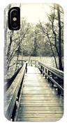 Bridge In The Wood IPhone Case