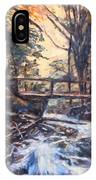 Morning Bridge In Woods IPhone Case