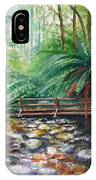 Bridge Over Badger Creek IPhone Case