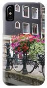 Bridge Over Canal In Amsterdam IPhone Case