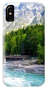 Bridge Over Mcdonald Creek In Glacier Np-mt IPhone Case