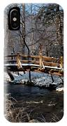 Bridge Over Snowy Valley Creek IPhone Case