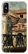 Bridge Over The River Guadalmedina In Malaga I. Spain IPhone Case