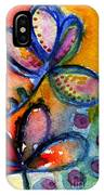 Bright Abstract Flowers IPhone Case
