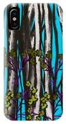 Bright Blue And Birch IPhone Case