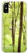 Bright Green Forest In Spring With Beautiful Soft Light  IPhone Case