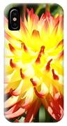 Bright Red Yellow Dahlia Flower Art Print IPhone Case