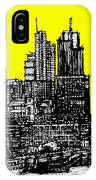 Dark Ink With Bright Yellow London Skies IPhone Case
