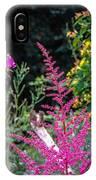Brilliant Astilbe In Markree Castle Gardens IPhone Case