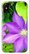 Brilliant Blue Clematis IPhone Case