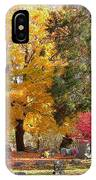 Brilliant Colors In The Cemetery  IPhone Case