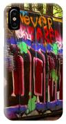 British Columbia Train Wreck Graffiti IPhone Case