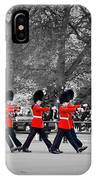 British Royal Guards March And Perform The Changing Of The Guard In Buckingham Palace IPhone Case