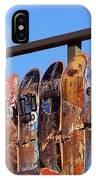 Broken Skateboard Fence IPhone Case