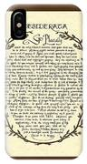 Bronze Frame Antique Desiderata Poem IPhone Case