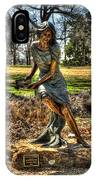 Bronze Girl At Woodward Park IPhone Case