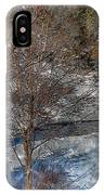 Brook And Bare Trees - Winter - Steel Engraving IPhone Case