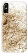 Brown Egg In Bird Nest Sepia IPhone Case