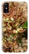 Brown Green Hydrangea IPhone Case