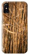 Brown Reeds IPhone Case