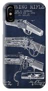 Browning Rifle Patent Drawing From 1921 - Navy Blue IPhone Case