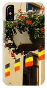 Brussels Belgium - Flowers Flags Football IPhone Case