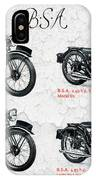 Bsa Motor Cycles For 1936 IPhone Case