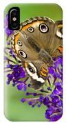 Buckeye Butterfly On Purple Flowers IPhone Case