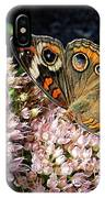 Buckeye Butterfly On Sedum IPhone Case