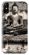 Buddha In Meditation Statue IPhone Case
