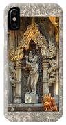 Buddhist Temple Figures IPhone Case