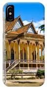 Buddhist Temple In Kratje - Cambodia IPhone Case