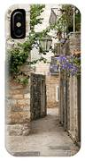 Budva Old Town Cobbled Street In Montenegro IPhone Case