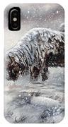 Buffalo In Snow IPhone Case