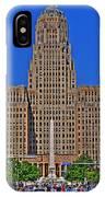 Buffalo Marathon 2013 City Hall View  IPhone Case