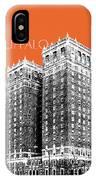 Buffalo New York Skyline 2 - Coral IPhone Case