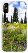 Buffalo Pass Colorado Wildflowers IPhone Case