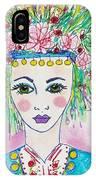 Bulgarian Follk Girl Art IPhone Case