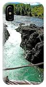 Bulkley River Falls In Moricetown-bc IPhone Case