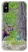 Bull Moose In Gros Ventre Campground In Grand Tetons National Park-wyoming IPhone Case